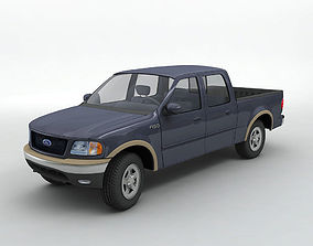 3D model 2002 Ford F-150 Super Crew Pickup Truck