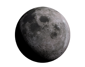 3D model Realistic Moon lunar