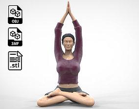 3D print model N1 Woman Doing Yoga Lotus pose