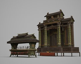 3D model Place of incense burner in ancient architecture