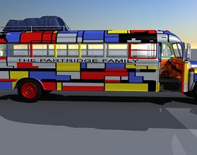 1957 School Bus 3D model
