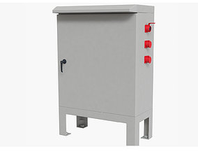 Outdoor electric box detailed 3D