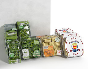 Packed Vegetables 2 fried 3D