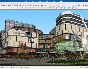 Sketchup Commercial and office complex B4 3D model