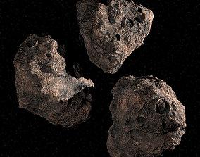 Three Asteroids 3D PBR