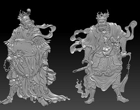3D printable model Menshen or Door Gods