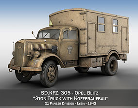 3D model Opel Blitz - 3t Cargo Truck with Kofferaufbau- 21