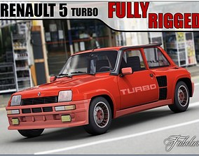 Renault 5 Turbo Fully rigged 3D