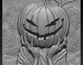 3d STL model for CNC Pumpkin head