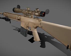 3D asset M110 Sniper Rifle