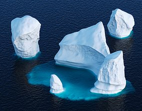 3D model Icebergs collection
