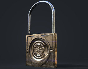 game ready lock 3D asset
