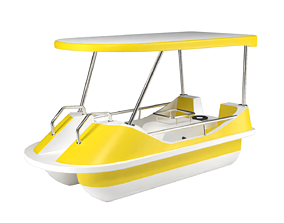 Pedal boat - yellow 3D model