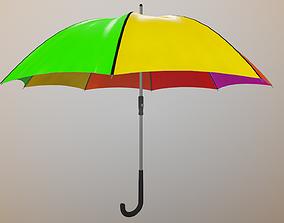 3D asset Realistic Rainbow Umbrella 4K