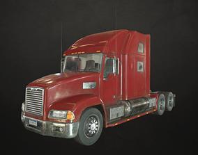 Semi Truck Tractor - Red 3D asset