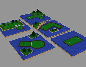 mini golf 3D asset