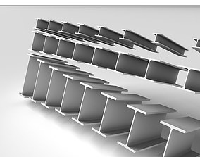3D model Metal Beam HEB