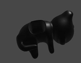 3D printable model gato macetero