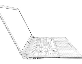 3D model Samsung Series 9 notebook 1768