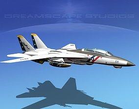 Grumman F-14D Tomcat T04a VF2 3D model