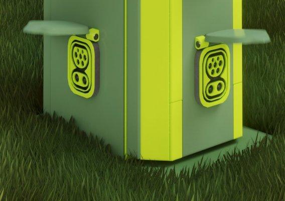 Extreme Electric Vehicle Charging Station 2 (Blender-2.92 Eevee)