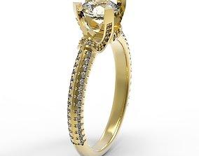 3DM Wonderful cluster diamond roun cut ring