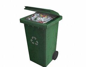 Garbage disposal bin 3D model