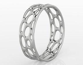 3D print model ring Voronoi Ring