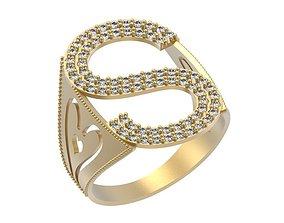 3D printable model Letter S Ring