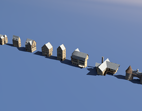 3D model Medieval Village Bundle 02