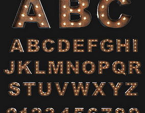 Vintage Marquee Letters 3D