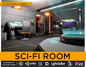 3D model Low Poly Sci-Fi Room Asset Pack