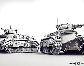 3D print model Feudal Guard Transport Tank