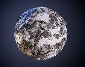 3D model Ground Snow Rock Seamless PBR Texture