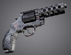 Makeshift Revolver Post Apocalyptic Pistol VR / AR ready 3