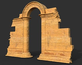 Low poly Ancient Roman Ruin Construction 04 - 3D model