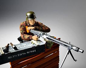 3D model MG-42 machine gun set
