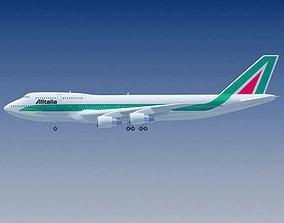 3D Boeing 747 Alitalia