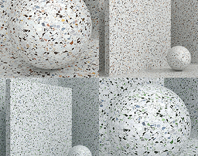 3D model Materials seamless coating stone terrazzo