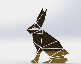 Rabbit wall decor 3D printable model