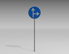 3D Turn right or straight