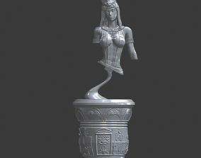 Egyptian cleopatre Bust 3D print model