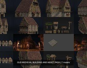3D model OLD MEDIEVAL BUILDING AND ASSET PACK