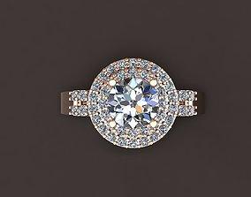 ruby 3D printable model Diamond Ring
