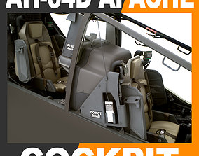 Boeing AH-64D Apache Longbow Attack Helicopter Cockpit 3D