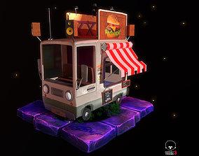 truck Car cartoon 3D model