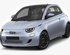 3D Fiat 500 2021 La Prima