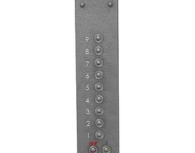 3D asset Elevator Control Panel