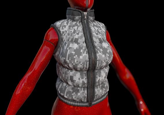 Female puffer vest