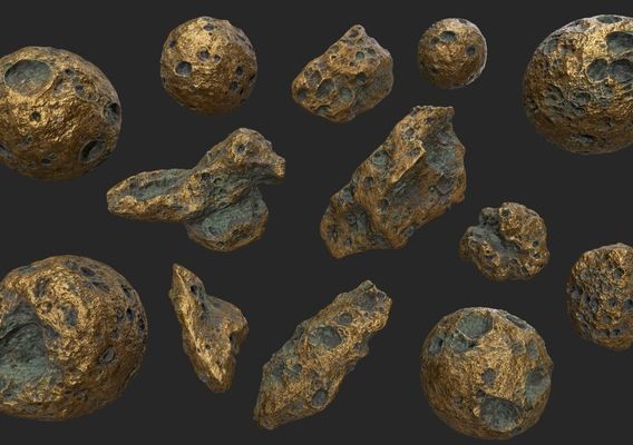 gold asteroid